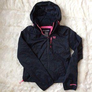 Abercrombie AF Rain Wind Navy Pink Jacket XS